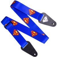 Superman Logo Fabric Guitar Strap - Music Gifts