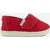 TOMS Toddlers Seasonal Classics SlipOn Pumps  Red  UK 5US 6 Toddlers  Red