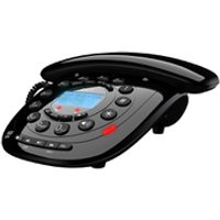 Idect CARRERACLASSICPLUS Corded Phone with Answer Machine - Black - Phone Gifts