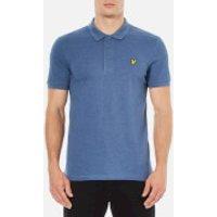 Lyle & Scott Mens Short Sleeve Polo Shirt - Indigo Marl - M - Blue