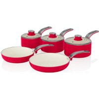 Swan Retro Pan Set - Red (5 Piece)