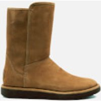 UGG Women's Abree Short II Classic Luxe Sheepskin Boots - Bruno - UK 4 - Tan