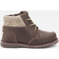 UGG Toddlers Orin Wool Lace Up Boots - Chocolate - UK 6 Toddler - Brown