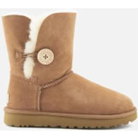 UGG Women's Bailey Button II Sheepskin Boots - Chestnut - UK 8.5 - Tan