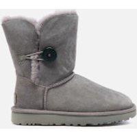 UGG Womens Bailey Button II Sheepskin Boots - Grey - UK 4.5
