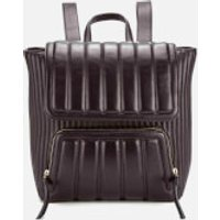 DKNY Womens Gansevoort Mixed Bombay and Quilted Backpack - Black