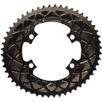 AbsoluteBLACK Shimano Oval Road Chainring - 50T - 5 Bolt 110BCD - Grey