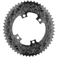 AbsoluteBLACK Shimano 4 Bolt Oval Road Chainring - 52T - 4 Bolt 110BCD - Black