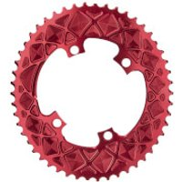 AbsoluteBLACK Shimano 4 Bolt Oval Road Chainring - 52T - 4 Bolt 110BCD - Red