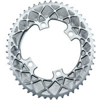 AbsoluteBLACK Shimano 4 Bolt Oval Road Chainring - 50T - 4 Bolt 110BCD - Grey