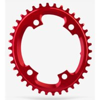 AbsoluteBLACK Shimano Oval CX Chainring - 38T - 4 Bolt 110BCD - Red