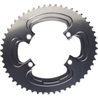 AbsoluteBLACK 110BCD 4 Bolt Spider Mount Aero Oval Chain Ring (Training) - 50T - Grey