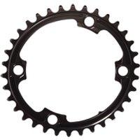 AbsoluteBLACK 110BCD 4 Bolt Spider Mount Oval Chain Ring (Premium) - 34T - Black