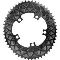 AbsoluteBLACK Shimano 5 Bolt Oval Road Chainring - 36T - 5 Bolt 110BCD - Black