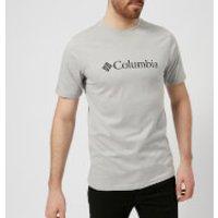 Columbia Mens Basic Logo T-Shirt - Grey Heather - M - Grey