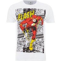 DC Comics Men's The Flash Comic Strip T-Shirt - White - L - White