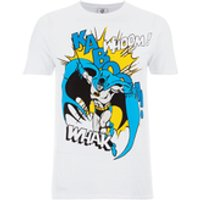 DC Comics Men's Batman Kaboom Whak Woom T-Shirt - White - S - White - Batman Gifts