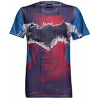 DC Comics Men's Batman Tear T-Shirt - Blue - M - Blue - Batman Gifts