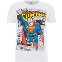 DC Comics Men's Superman Comic Strip T-Shirt - White - M - White - Comics Gifts