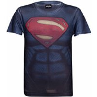 DC Comics Men's Superman Muscle T-Shirt - Blue - XL - Blue - Superman Gifts