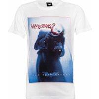 DC Comics Mens Batman The Joker Why So Serious? T-Shirt - White - L - White