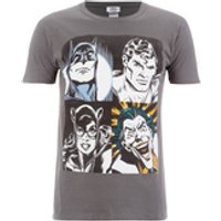 DC Comics Men's Batman Face T-Shirt - Grey - S - Grey - Batman Gifts