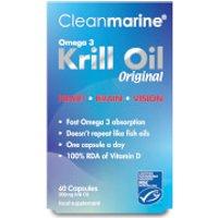 Cleanmarine Krill Oil - 60 Gel Capsules (500mg)