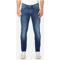Edwin Mens Ed-85 Slim Tapered Drop Crotch Jeans - Mid Trip Used - W30/L34 - Blue