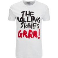 Rolling Stones Men's Logo GRRR! T-Shirt - White - XXL - White - Rolling Stones Gifts