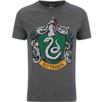 Harry Potter Men's Slytherin Shield T-Shirt - Grey - S - Grey - Harry Potter Gifts