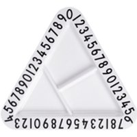 Design Letters Kids Collection Melamine Triangular Snack Plate - White