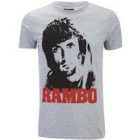 Rambo Mens Face T-Shirt - Grey Marl - S - Grey