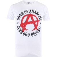 Sons of Anarchy Mens Anarchy T-Shirt - White - S