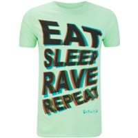 Fat Boy Slim Mens Eat Sleep Rave Repeat T-Shirt - Mint - S
