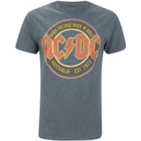 AC/DC Mens Est 73 T-Shirt - Dark Heather - M