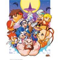 Street Fighter 'Lets Go' Manga Art Print - 14 x 11 - Manga Gifts