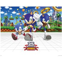 Sonic the Hedgehog 25th Anniversary Art Print - 14 x 11 - Silver Wedding Anniversary Gifts