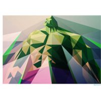 Hulk Inspired Geometric Art Print - 'Mad Man' 16.5 x 11.7 - Hulk Gifts
