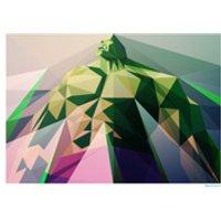 Hulk Inspired Geometric Art Print - Mad Man 16.5 x 11.7