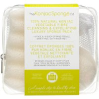 The Konjac Sponge Company 100% Pure Deluxe Travel Pack Duo