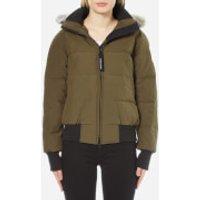 Canada-Goose-Womens-Savona-Bomber-Jacket-Military-M-Green