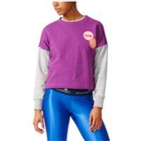 adidas Womens Stella Sport Spacer Training Crew Sweatshirt - Purple - L