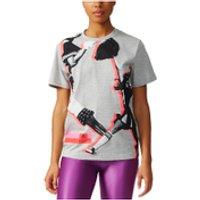adidas Womens Stella Sport Cheerleader Training T-Shirt - Grey - S