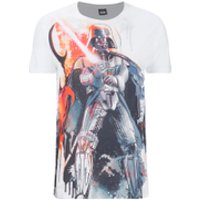 Star Wars Men's Vader Stencil T-Shirt - White - M - White - Star Wars Gifts