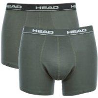 Head Men's 2-Pack Boxers - Black/Grey - S - Black - Boxers Gifts