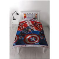 Captain America: Civil War Rotary Duvet Set - Double - Marvel Gifts