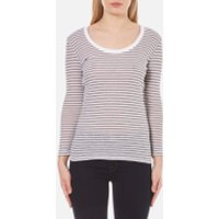 Selected Femme Womens Sila 7/8 Top - Snow White - XS/UK 6 - Multi