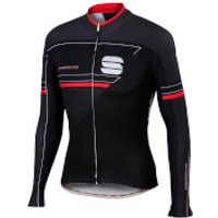Sportful Gruppetto Thermal Long Sleeve Jersey - Black - XXL - Black