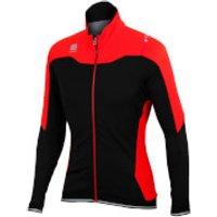 Sportful Fiandre NoRain Jacket - Black/Red - L - Black/Red