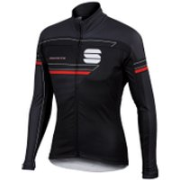Sportful Gruppetto Partial Windstopper Jacket - Black/Grey - M - Black/Grey